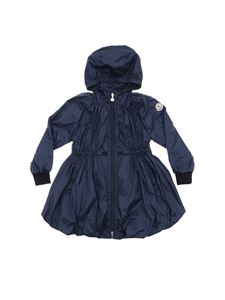 Moncler Jr - Dark blue flared Berne jacket