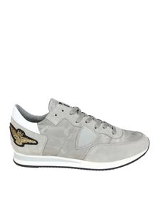 Philippe Model - Tropez L grey sneakers with golden detail