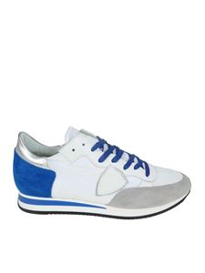 Philippe Model - Tropez L white and blue sneakers