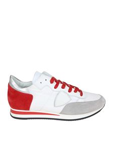 Philippe Model - Tropez L white and red sneakers