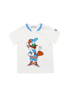 Moncler Jr - White T-shirt with baseball duck print