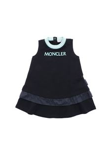 Moncler Jr - Moncler blue dress with ruffle on the bottom
