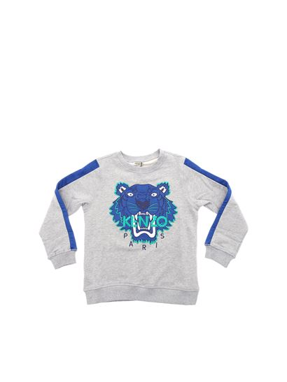 d6ce9f4a2d11 Kenzo Spring Summer 2019 gray and blue racing tiger sweatshirt ...
