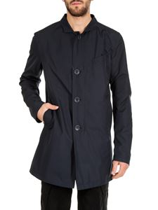 Herno - Blue waterproof raincoat