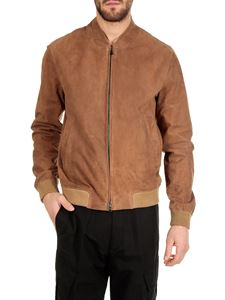 Herno - Brown jacket in genuine leather