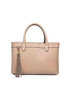 Borbonese - Small handbag in almond colour OP leather
