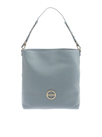 eae33d44d8051 Borbonese Spring Summer 2019 light blue leather shoulder bag ...