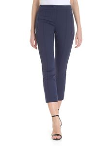 Sportmax - Dark blue trousers with stitched pleat