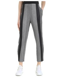 PLEATS PLEASE Issey Miyake - Black and gray melange pleated trousers
