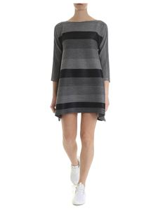 PLEATS PLEASE Issey Miyake - Black and gray melange dress