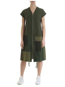 Zucca - Patchwork green oversize dress