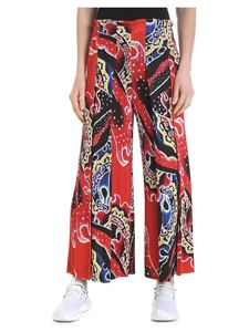 PLEATS PLEASE Issey Miyake - Red pleated palazzo trousers