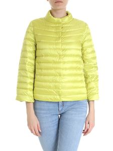 ADD - Reversible lime and cedar quilted jacket