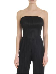 PLEATS PLEASE Issey Miyake - Black pleated effect top