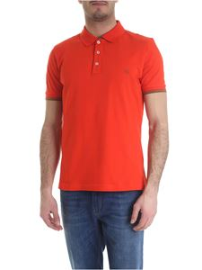 Fay - Orange polo shirt in stretch cotton