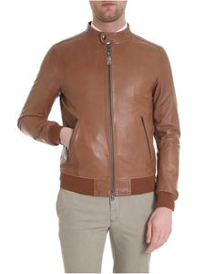 S.W.O.R.D. - Bomber jacket in soft leather cognac