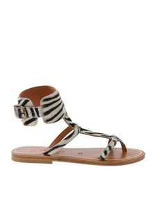 K. Jacques - Caravelle sandals in striped calfhair