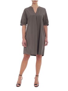 Barba - Barba dress in green cotton