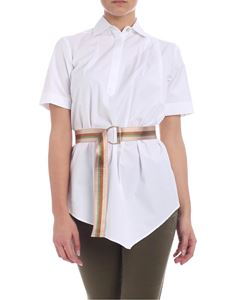 Barba - Barba blouse in white with belt