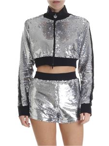Chiara Ferragni - Silver and black crop jacket with sequins