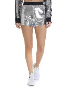 Chiara Ferragni - Silver shorts with sequins