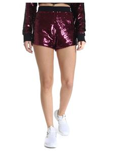 Chiara Ferragni - Burgundy shorts with sequins