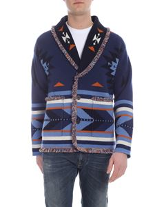 Alanui - Cardigan blu Native Arrow
