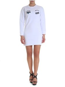 Chiara Ferragni - Flirting white round neck dress
