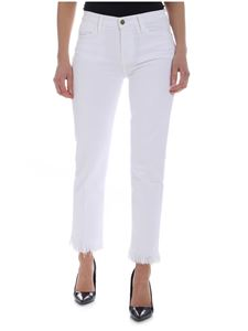 Frame - Le High Straight white jeans