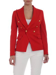 Tagliatore - Alicya double-breasted jacket in red cotton