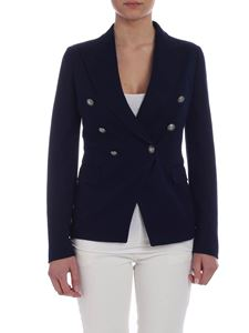 Tagliatore - Alicya double-breasted jacket in blue cotton