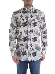 Etro - White shirt with floral print