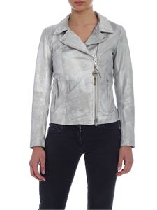 S.W.O.R.D. - Silver-colored biker jacket