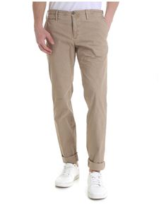PT01 - Trousers in stretch cotton beige