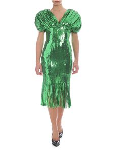 Giuseppe di Morabito - Green dress with sequins and fringes