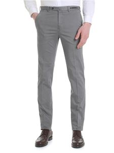 PT01 - Gray cotton trousers with micro pattern