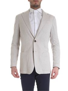 Canali - Pure cotton two-button jacket