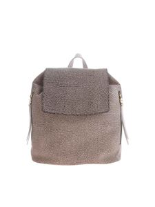 Borbonese - Borbonese backpack in brown leather with OP print