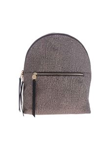 Borbonese - Brown backpack with OP print