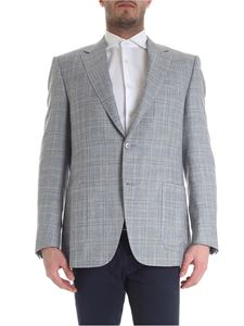 Canali - Single-breasted jacket with checked pattern