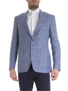 Canali - Light blue Kei jacket in woven fabric
