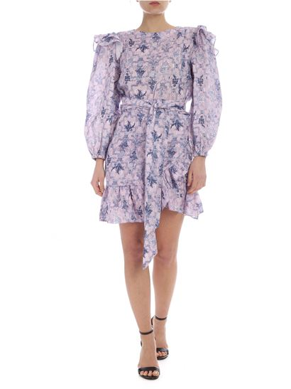 6eb797b33ca8 Isabel Marant Étoile Spring Summer 2019 pink telicia dress with blue ...