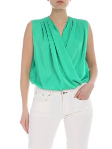 Pinko - Emerald green Ines bodysuit
