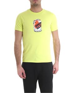 Kenzo - Crew-neck printed t-shirt in lime green color