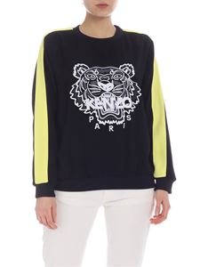 Kenzo - Black Tiger sweatshirt with yellow band