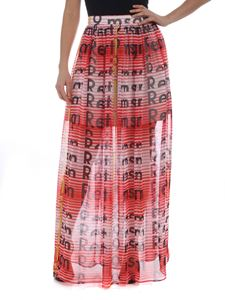 MSGM - Red and white striped skirt