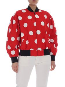 MSGM - Red jacket with white polka dots