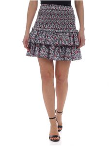 Isabel Marant Étoile - White Naomi skirt with floral pattern