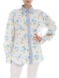Golden Goose Deluxe Brand - Cream Jessie shirt with floral print