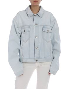 Golden Goose Deluxe Brand - Light blue denim oversize jacket